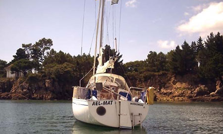Segelboot Ael-Mat in der Bretagne