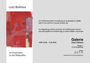 Einladung Galerie Altes Rathaus Lutz Bolinius