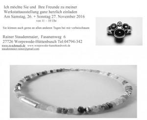Einladung zur Werkausstellung_Rainer Staudenmaier