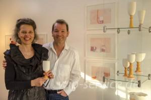 Ingrid Ripke-Bolinius und Lutz Bolinius freuen sich über Besucher ihrer Hausausstellung