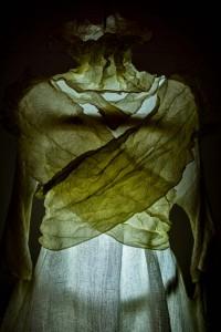 Eindrucksvoll präsentiert: Das Kleid von Sabine Wagner